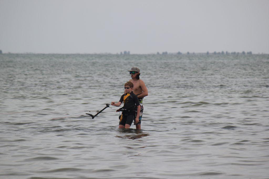 Управление Кайтом на воде